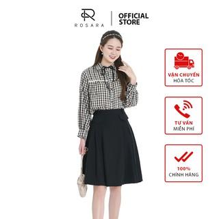 Chân váy thiết kế xòe dáng tiểu thư 2 màu Rosara CV01 thumbnail