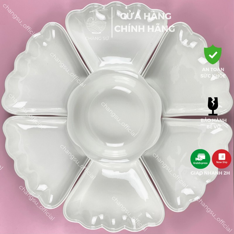 Bộ bát đĩa thắp hương bát tràng