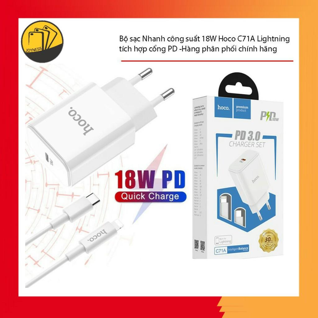 Bộ Sạc Nhanh Hoco C71 Cho Iphone Hỗ Trợ Sạc Nhanh PD3.0