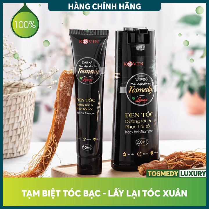 Dầu gội thảo dược đen tóc TOSMEDY - Công ty CP Dược TW Mediplantex - Đen tóc chỉ sau 01 lần gội.