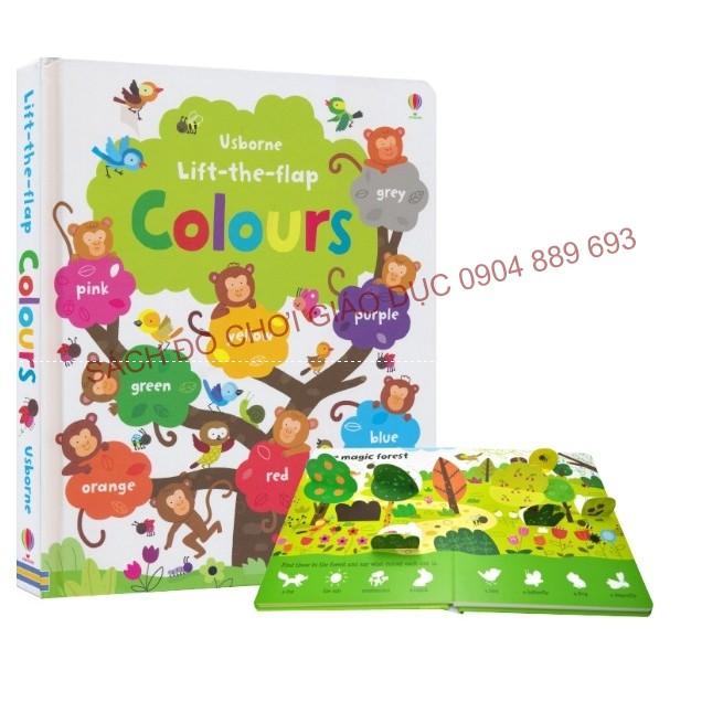 Colours - Usborne lift the flap book - 2587585 , 795548908 , 322_795548908 , 235000 , Colours-Usborne-lift-the-flap-book-322_795548908 , shopee.vn , Colours - Usborne lift the flap book