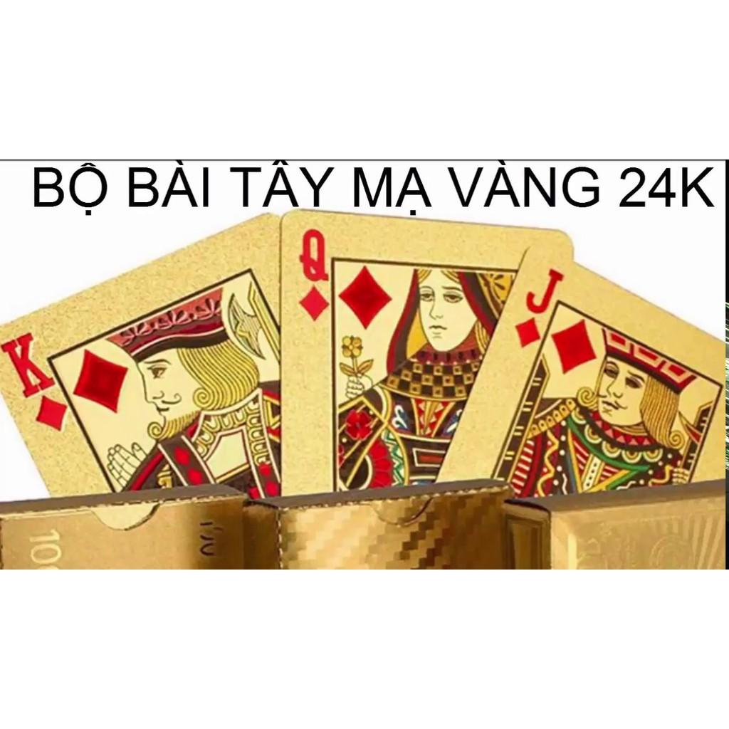 Bộ bài tây mạ vàng 24k - 3366362 , 1220923203 , 322_1220923203 , 70000 , Bo-bai-tay-ma-vang-24k-322_1220923203 , shopee.vn , Bộ bài tây mạ vàng 24k
