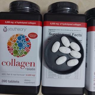 Date 2023 Collagen 390 viên collagen Youtheory Advanced Type 1,2&3 hộp 390v thumbnail