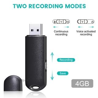 [PRETTYIA1]Small Digital Voice Recorder Pen Portable Sound Record USB Flash Drive 4GB