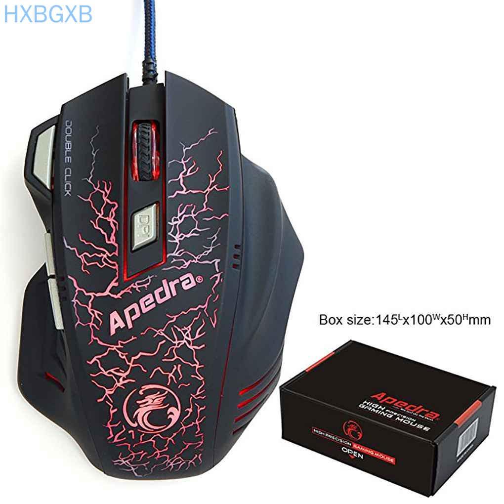 Chuột Quang Gaming Hxbg - Apedra A7 7 Nút 3200dpi