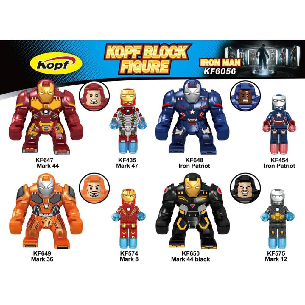 Bộ 4 mô hình LEGO Ironman KF6056