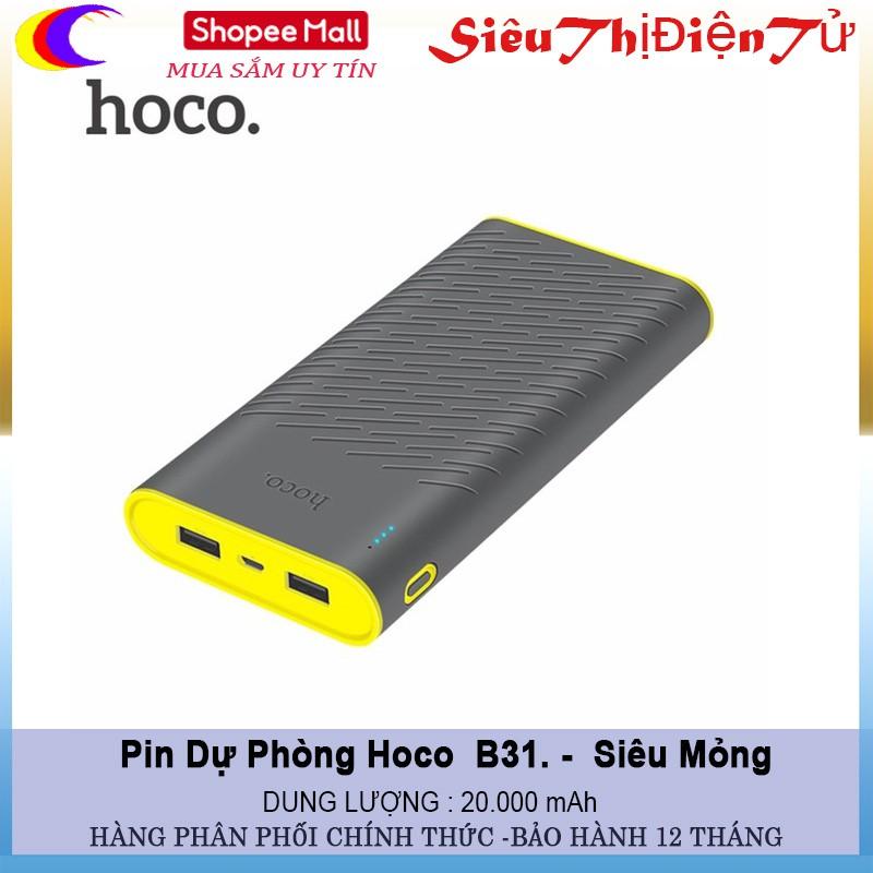PIN DỰ PHÒNG HOCO B31 DUNG LƯƠNG 20.000 mAh