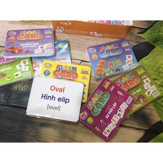 [Hỗ trợ giá] Bộ thẻ học thông minh 20 chủ đề 312 thẻ tặng hộp màu_Đảm bảo chất lượng