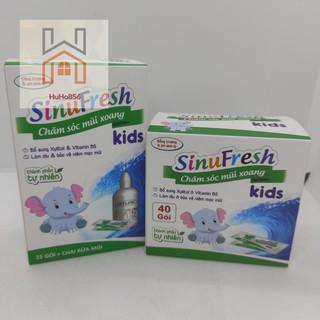 Muối rửa mũi cho bé Sinufresh Kids,THÊM VITAMIN B5 GIÚP TÁI TẠO NIÊM MẠC MŨI, chính hãng Cty Dược Cát Linh- hộp 40 gói thumbnail