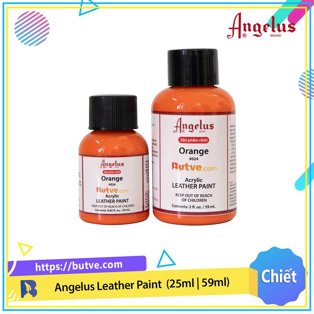 Màu acrylic vẽ da chuyên dụng Angelus Leather Paint - Orange (25ml | 59ml)