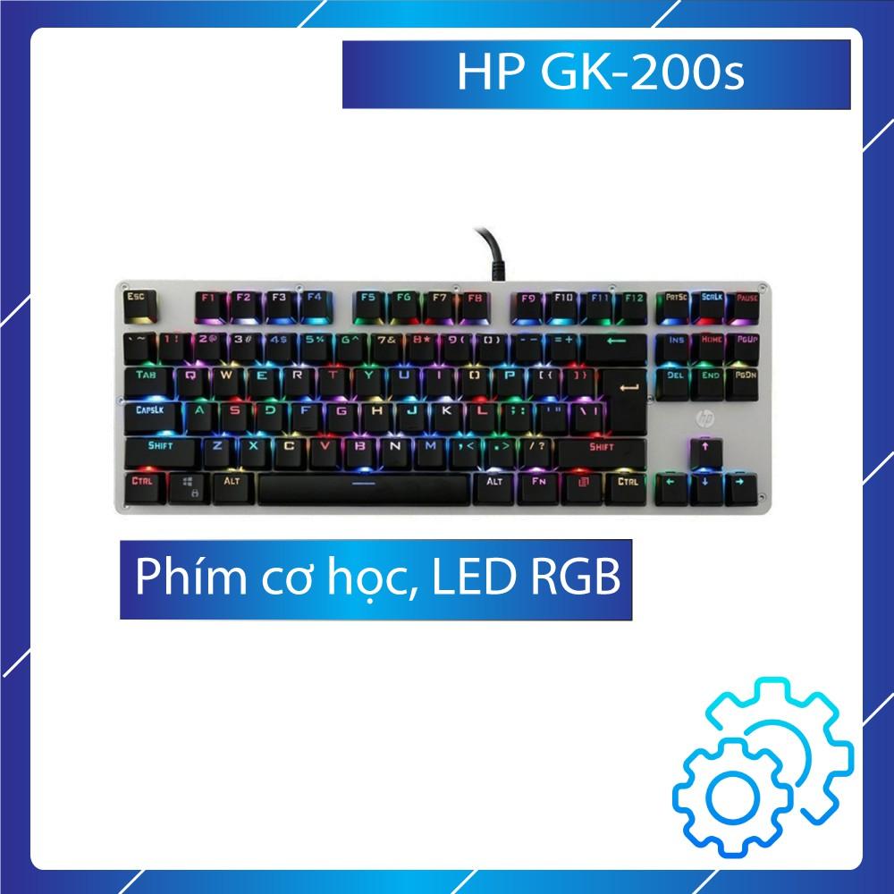[FreeShip] Bàn phím cơ HP GK-200/200s LED RGB hơn 16 triệu màu / BlueSwitch, bảo hành chính hãng 12 tháng