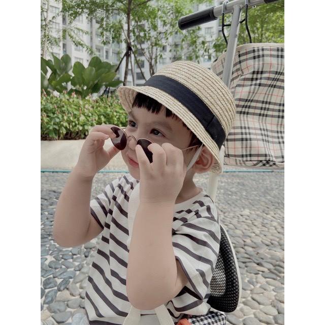 Mũ cói cho bé 3 sz B65- 21012 bé trai bé gái, mũ cho bé