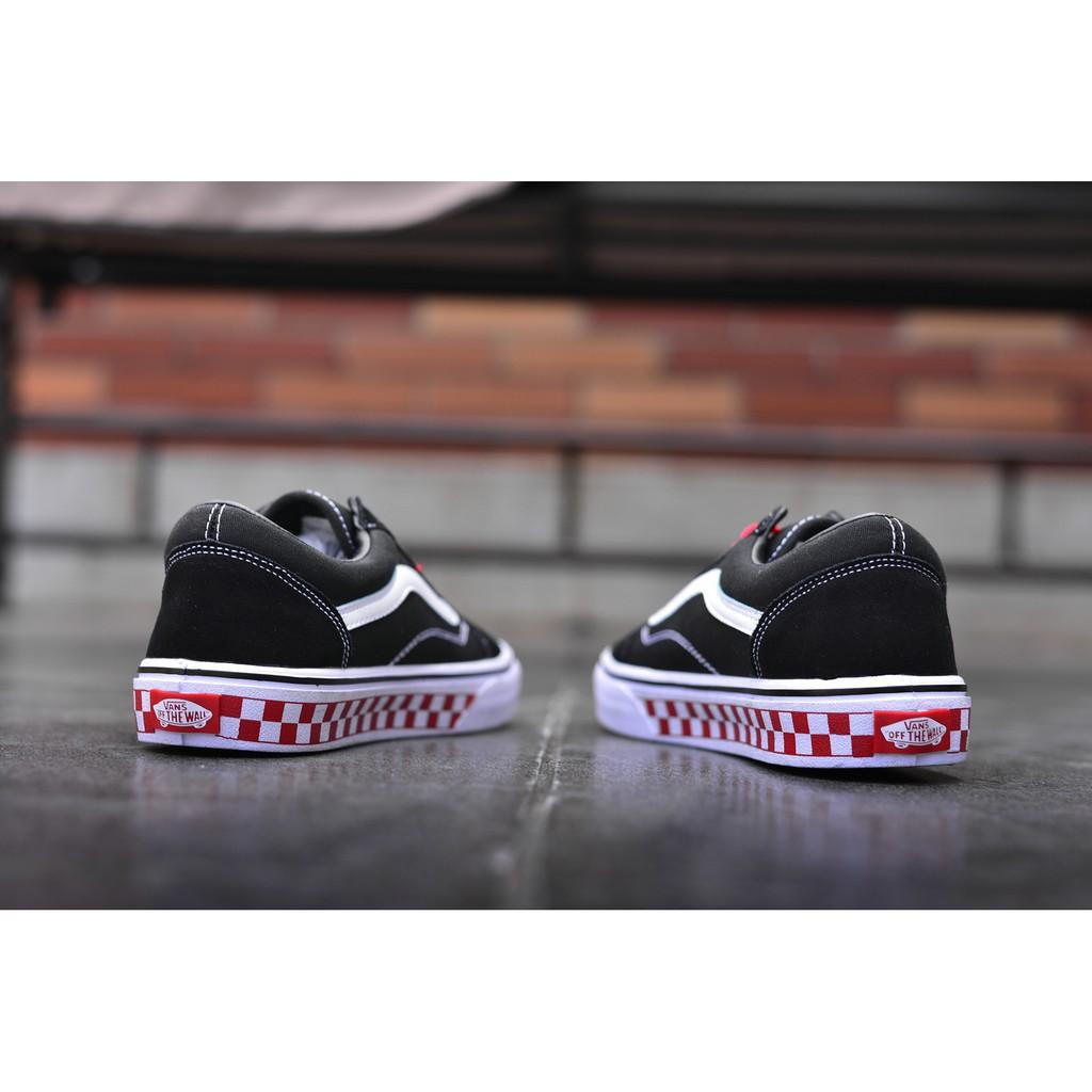 <AB> Vans ผู้หญิงผู้ชายรองเท้าผ้าใบคลาสสิกเก่า Skool รองเท้าไม่มีส้น Slip-21