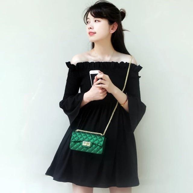 Túi xách đeo chéo nữ đẹp Silicon trám mềm DC16