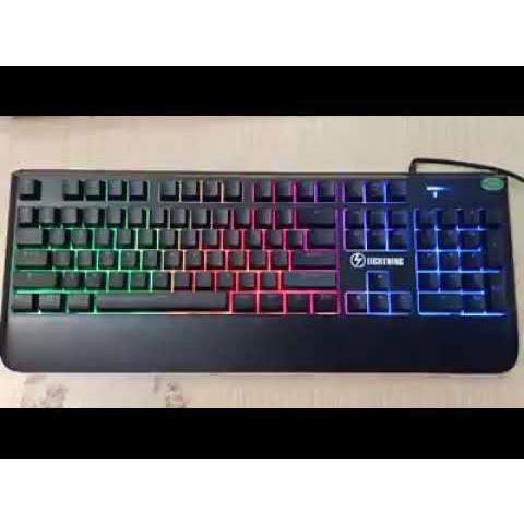 Bàn Phím Chuột Giả Cơ - Chuyên game - Có đèn LED RGB,  7 màu - Hàng cũ thanh lý dùng tốt cho máy tính, laptop