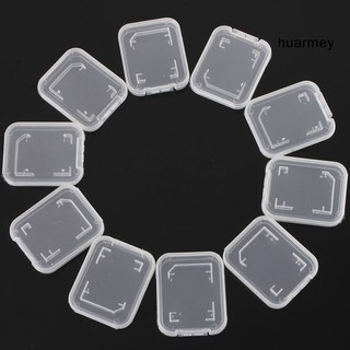 [HU] 10Pcs Lightweight Clear Standard SD SDHC Memory Card Case Storage Holder Box