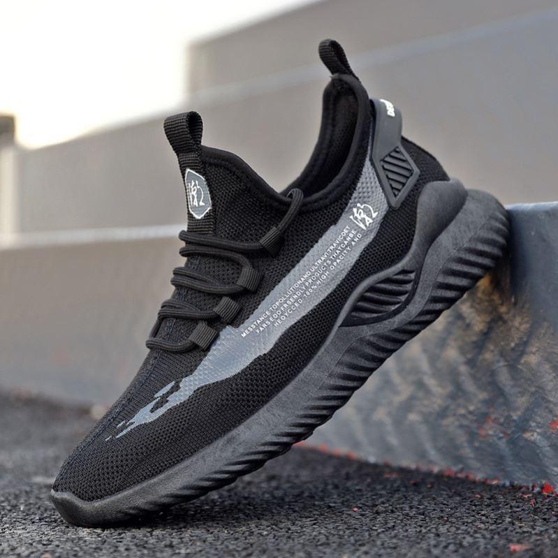 [Mã FASHIONXANH15 giảm 10K đơn 50K] Giày thể thao nam đế êm vải thoáng khí - Giày sneaker nam đế êm sườn chữ