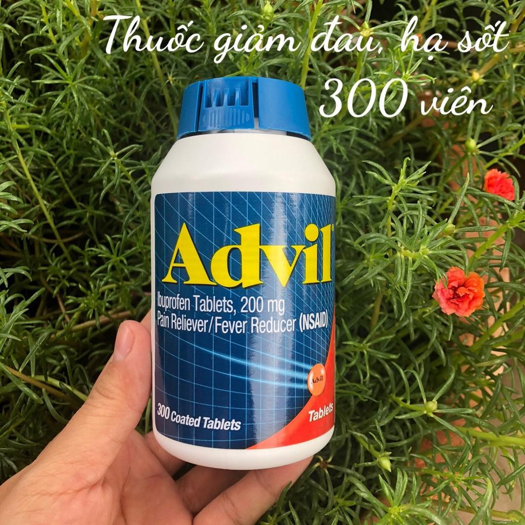 ❤️ [Date 5/2023] A.D.V.I.L Ibuprofen Tablets 200mg Mỹ, Hộp 300 Viên