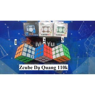 Rubik 3x3x3. Zcube Dạ Quang Màu
