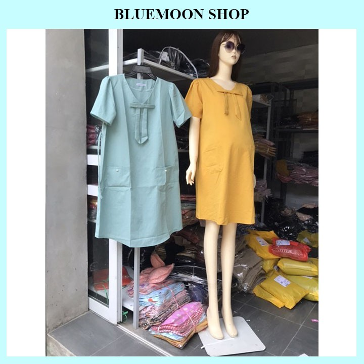Mặc gì đẹp: Dễ chịu với Đầm Bầu Cao Cấp 💝 𝐅𝐑𝐄𝐄 𝐒𝐇𝐈𝐏 💝 Đầm Bầu Thời Trang Dự Tiệc Thiết Kế Chất Đũi Xước Siêu Mát - Freesize từ 45 đến 70kg