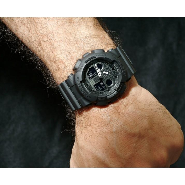 Đồng hồ nam dây nhựa G-SHOCK Casio chính hãng Anh Khuê GA-100-1A1DR