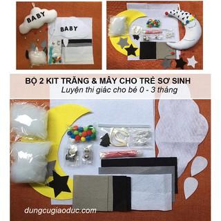 Bộ 2 kit trăng và mây luyện thị giác cho bé sơ sinh