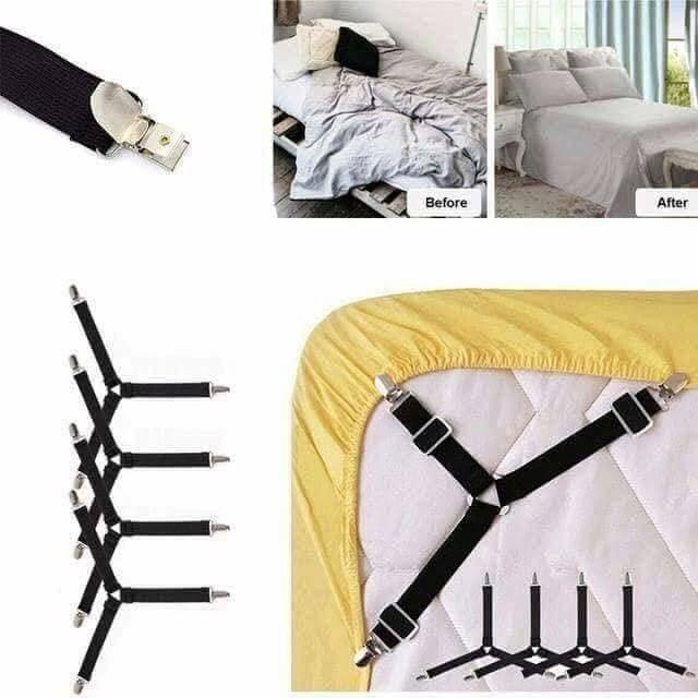 Set 4 kẹp ga gra nệm giường chống xê dịch