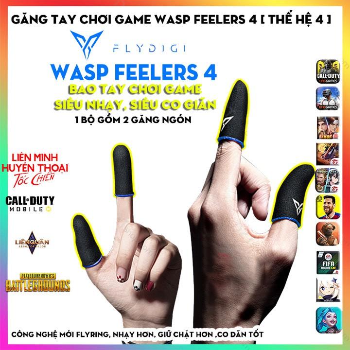 [PHIÊN BẢN 4] Flydigi Wasp Feelers 4   Găng tay chơi game PUBG, Liên quân, chống mồ hôi, cực nhạy