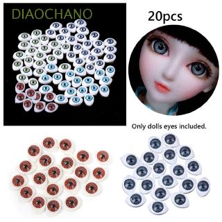 DIAOCHANO 20pcs 4 sizes 4 colors Animal Toys Funny Puppet Making Doll Safety Eyes