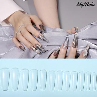 Sliprain ♥144Pcs/Set False Toenail Tip Smooth Grinding-Free Lightweight Ultra Toe Nail Tips