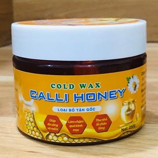 Sáp wax lông triệt tẩy lông nách bikini vùng kín vĩnh viễn was lông an lành Calli Honey tặng 50 giấy và 2 que wax – WCH