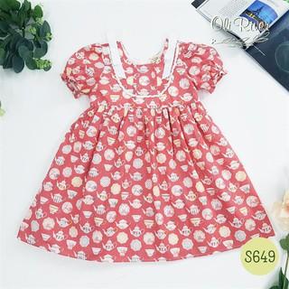 Đầm babydoll đỏ gạch