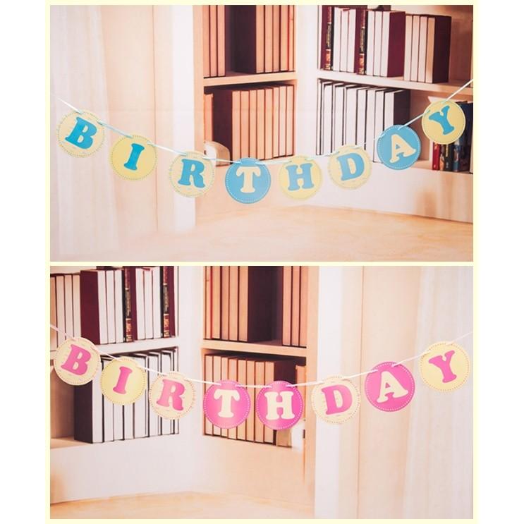 Dây treo chữ happy birthday tròn