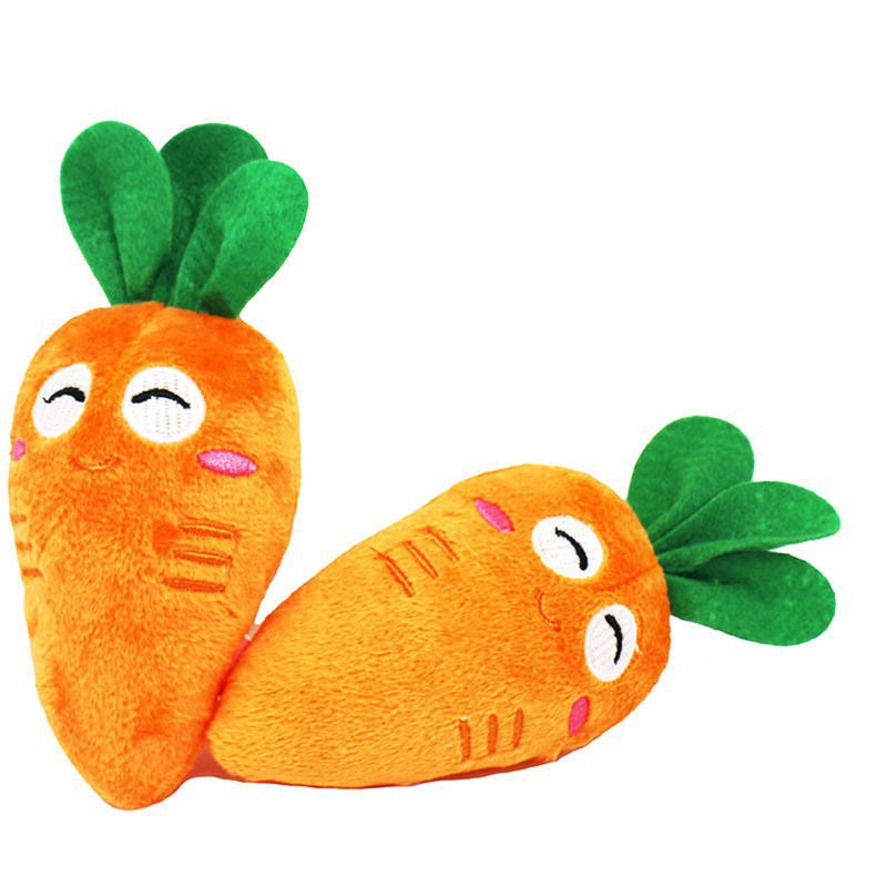 Đồ chơi gặm cắn hình củ cà rốt phát ra tiếng cho thú cưng