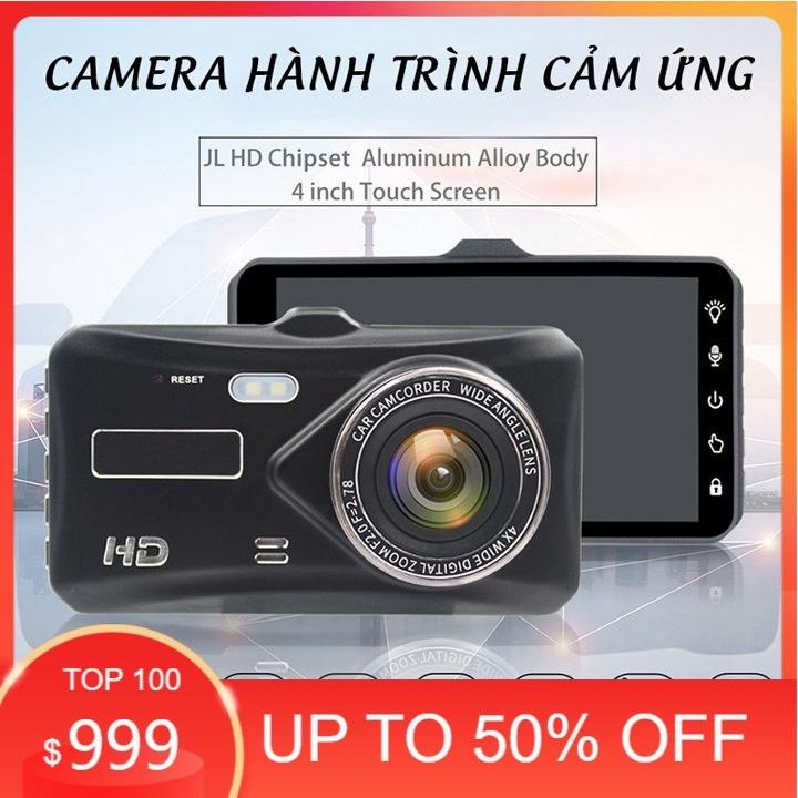 Camera hành trình ô tô - chất lượng full HD - 1080 ghi hình trước sau, có cảm ứng