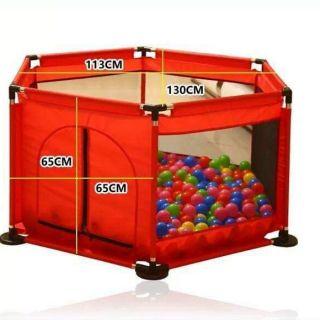 Quây bóng tặng kèm túi bóng 100 quả cho bé(giao màu ngẫu nhiên)