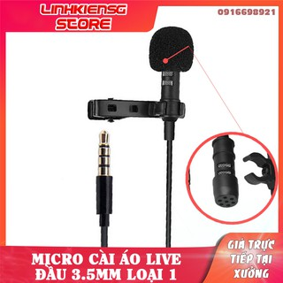 Micro cài áo mini giắc cắm 3.5MM tiện dụng dành cho ghi âm bằng điện thoại thumbnail