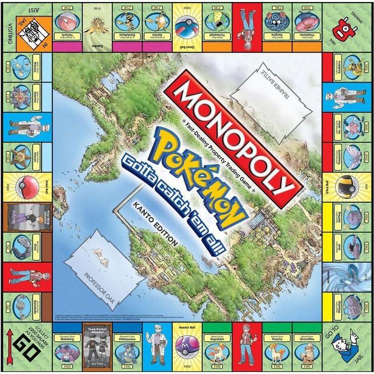 Cờ Tỷ Phú Monopoly Pokemon Kanto Edition Trò Chơi Tài Chính
