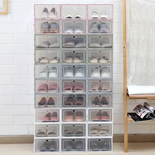 [❌GIÁ SỈ❌] Hộp Đựng Giày Dép Nắp Nhựa Cứng Mica Trong Suốt, Size lớn Chịu Lực 4kg 88190 SHOP HOÀNG XUÂN