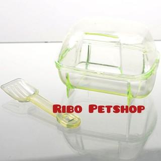 Nhà tắm vuông mika cho hamster đi vệ sinh size (10x7x7) thumbnail