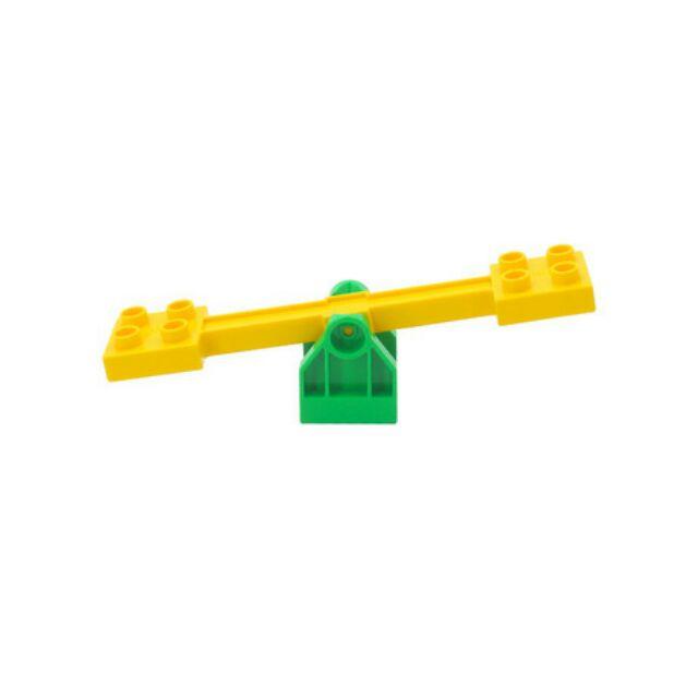 Hãng gorock - Chi tiết Xích đu, cầu trượt (2 màu), bập bênh tương thích duplo