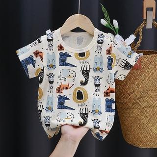 Áo cộc tay bé trai, bé gái, áo thun cho bé loại 100% cotton, hàng QuangChau KIZICIZY QATE32