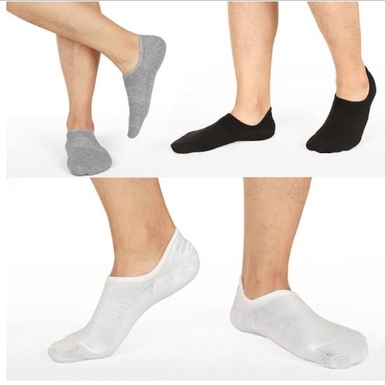 Combo 3 đôi tất (vớ) lười nam sợi cotton cao cấp đệm Silicon chống tuột gót
