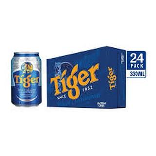 Thùng 24 lon bia tiger 330ml (mẫu không trúng thưởng)