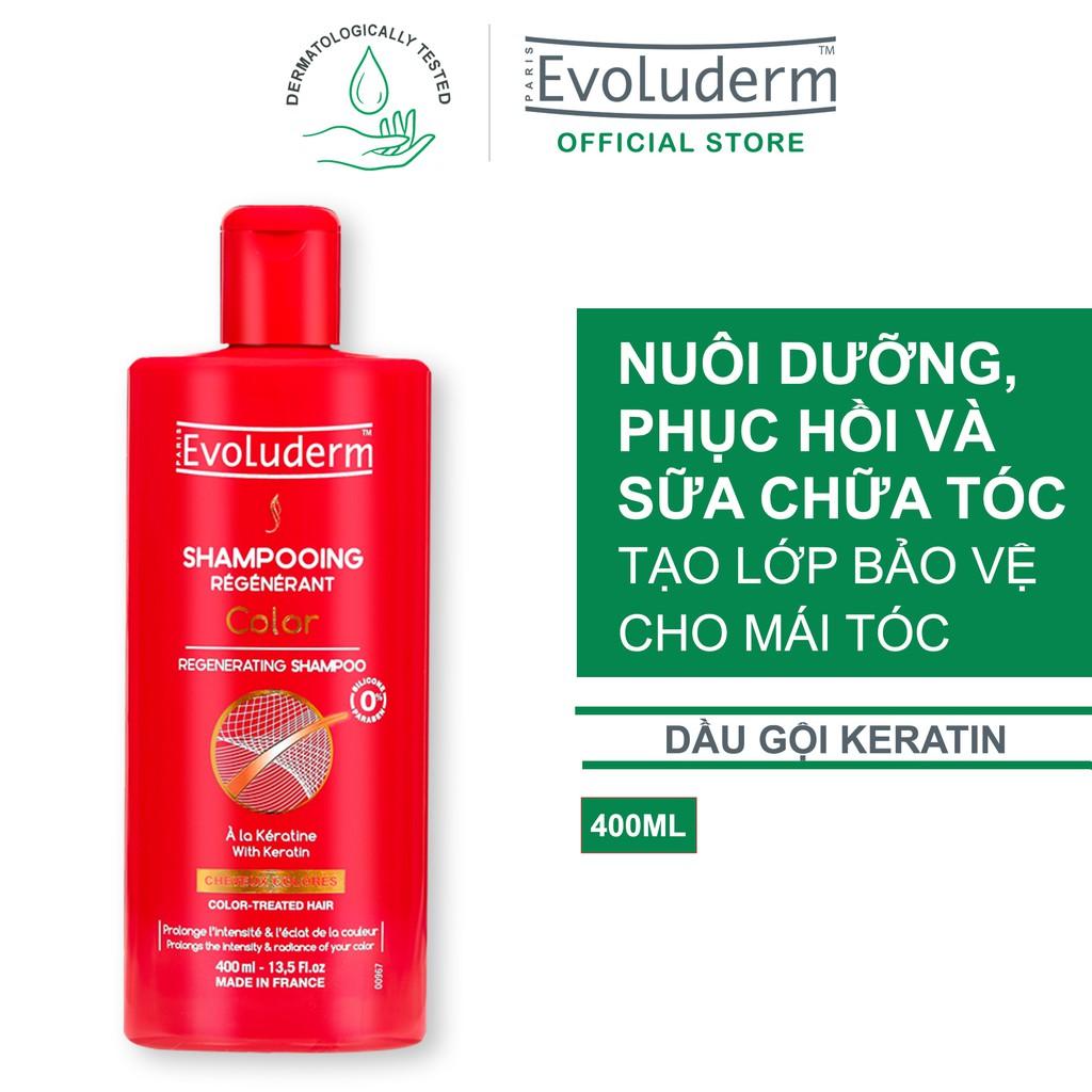 Dầu gội đầu Evoluderm Clouleur dành cho tóc uốn nhuộm 400ml