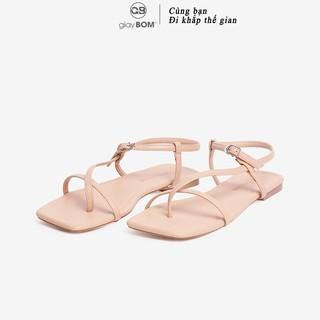 Giày Sandal Nữ giayBOM Quai Dây Xỏ Ngón Khóa Cài Đế Bệt GB00042 thumbnail