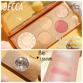 Bảng phấn mắt, má, highlighter, má hồng Becca Pop Goes The Glow Champagne Pop Face & Eye Palette thumbnail