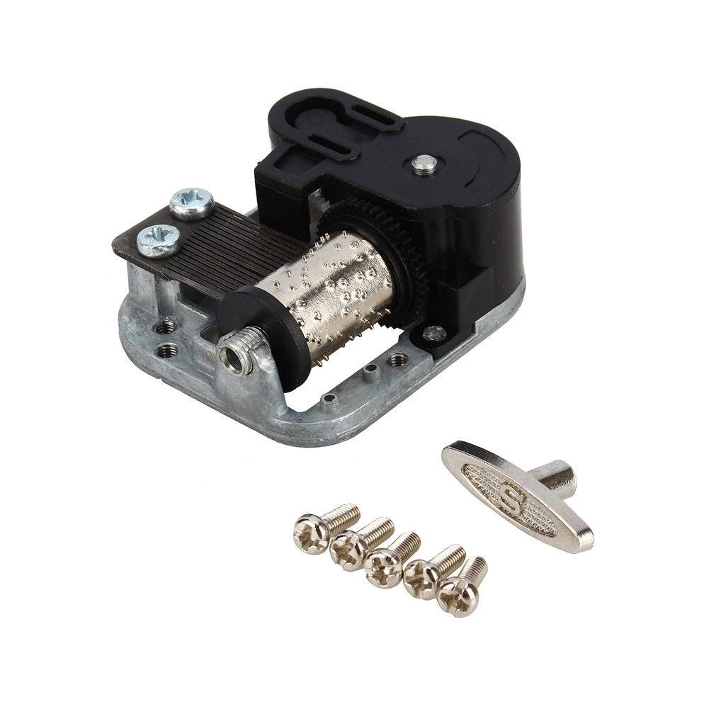 BLM❤Nice Wind Up Musical Movements Part With Screws Winder Music Box DIY Replaces