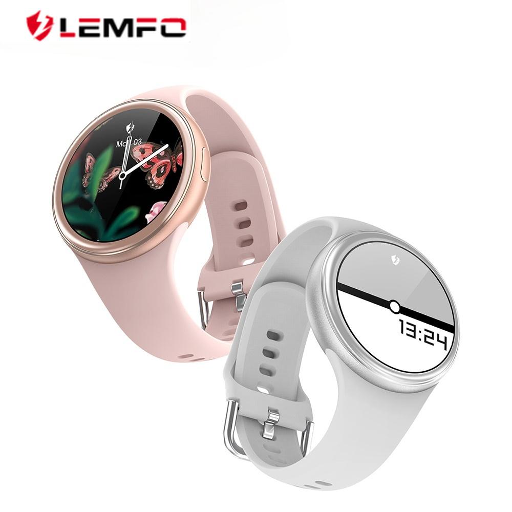 LEMFO New J2 Smart Watch Women 1.09 HD IPS Full Screen DIY Watch Face Full Metal Body Heart Rate Monitor for Women's Watches