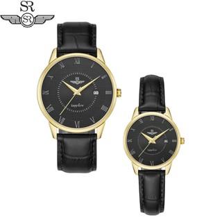 Đồng hồ Đôi SG1057.4601TE và SL1057.4601TE đen Mặt kính Sapphire Crystal sang trọng,cá tính, Bảo hành 12 tháng thumbnail